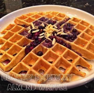 Healthy Blueberry Almond Waffle