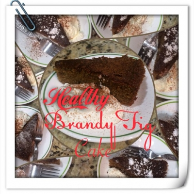 Healthy Brandy Fig Cake