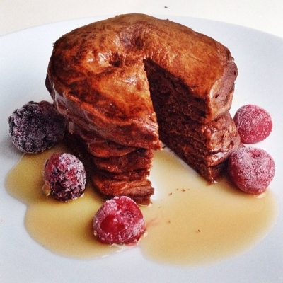 Healthy Chocolate Pancakes!
