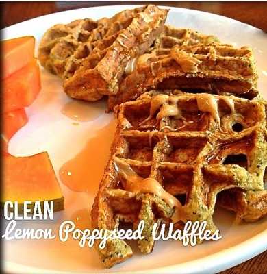 Healthy Lemon Poppy Seed Waffles