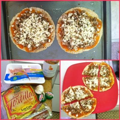 Healthy Turkey Mozzarella Mini Pizzas