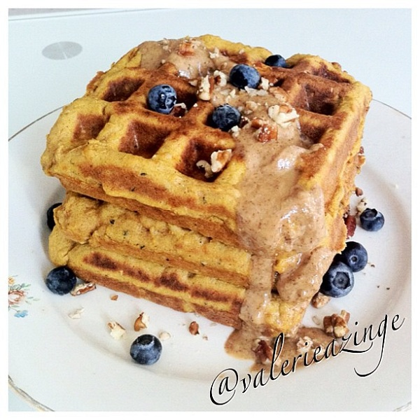 High Protein Sweet Potato Waffles