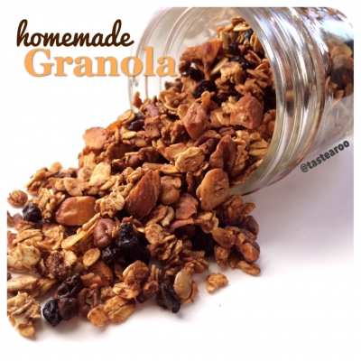 Homemade Granola: Honey, Nuts, and Zante Currants