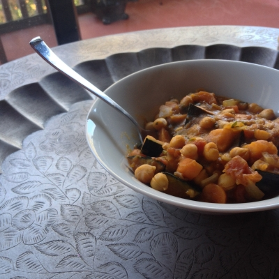 Kabocha and Chickpea Stew