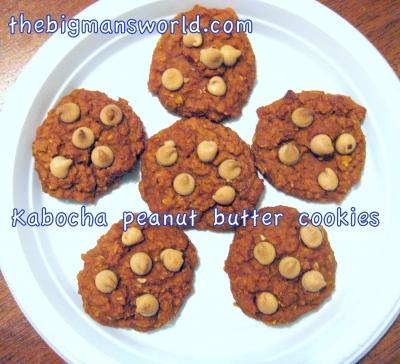 Kabocha/Pumpkin Peanut Butter Cookies