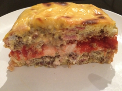 Keto Bacon and Egg Lasagna With Ground Buffalo Recipe