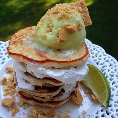 Key Lime Pie Protein Pancakes
