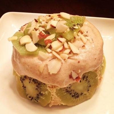 Kiwi Almond Protein Mug Cake