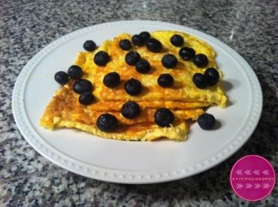 Lemon Blueberry Egg White Oatmeal Protein Pancakes