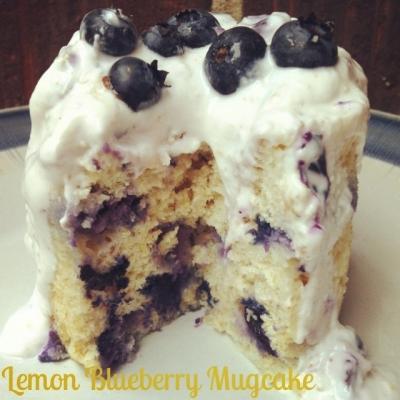 Lemon Blueberry Mugcake