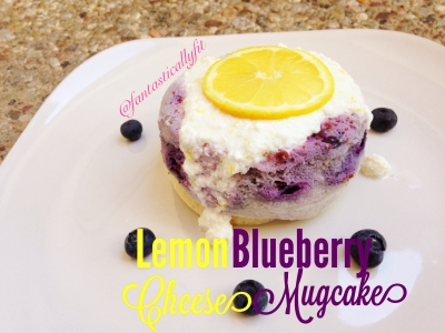 Lemon Blueberry Protein Cheese Mugcake