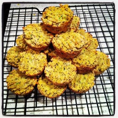 Lemon Poppyseed Mango Mini Muffins!