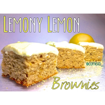 Ripped Recipes Lemony Lemon Brownies