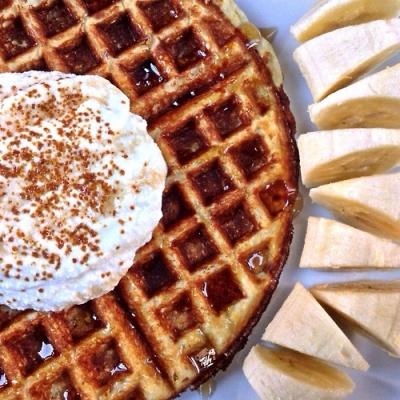 Lentil Corn Cake Waffle