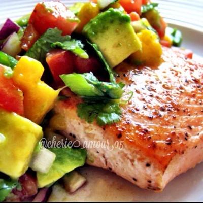 Mango Salsa and Salmon