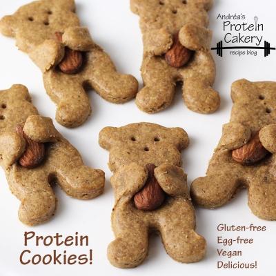 Maple Almond Bear Hug Protein Cookies