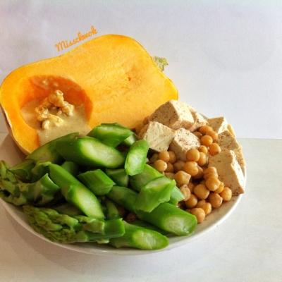 Maple Cinnamon Roasted Tofu and Chickpeas