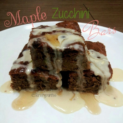 Maple Zucchini Protein Bars!
