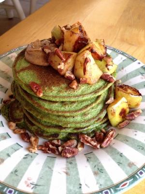 Masala Chai Green Protein Pancakes