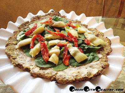 Mediterranean Eggplant Crust Pizza