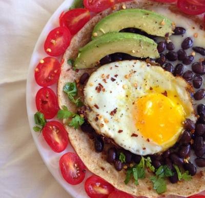 Mexican Egg-Cellent Tortilla Breakfast Pizza