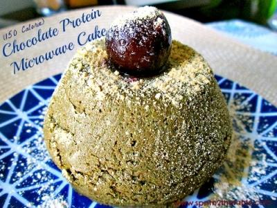 Microwave Chocolate Protein Cake
