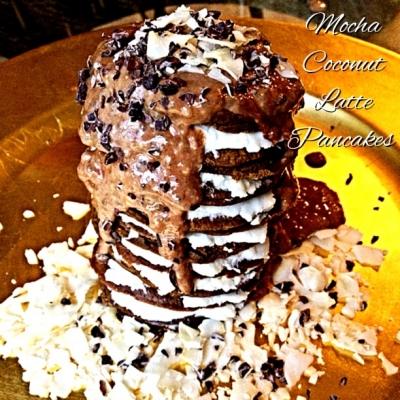 Mocha Coconut Latte Pancakes