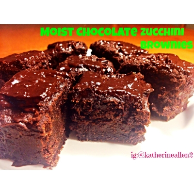 Moist Chocolate Zucchini Brownies