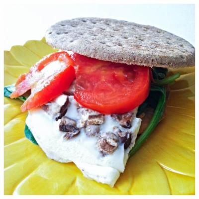 Mushroom Omelette Sandwich