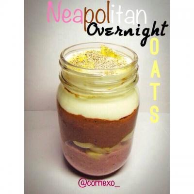 Neapolitan Overnight Oats