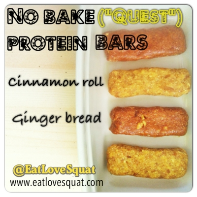 No Bake Cinnamon Roll Protein Bar