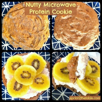 Nutty Microwave Protein Cookie