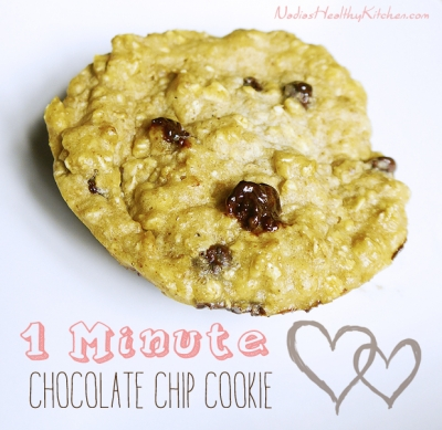 One Minute Chocolate Chip Cookie