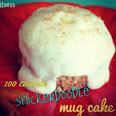 One Hundred Calorie Snickerdoodle Protein Mug Cake