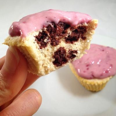 Orange Brownie One-Minute Cupcakes