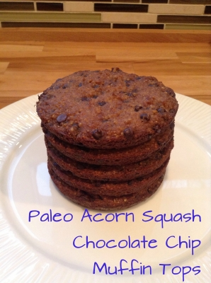 Paleo Acorn Squash Chocolate Chip Muffin Tops