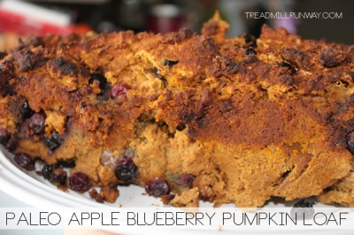 Paleo Apple Blueberry Pumpkin Loaf