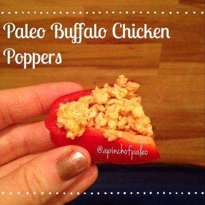 Paleo Buffalo Chicken Poppers