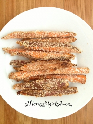 Paleo Coconut Cinnamon Sweet Potato Fries
