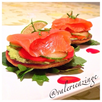 Paleo Smoked Salmon On Sweet Plantain Drop Biscuits