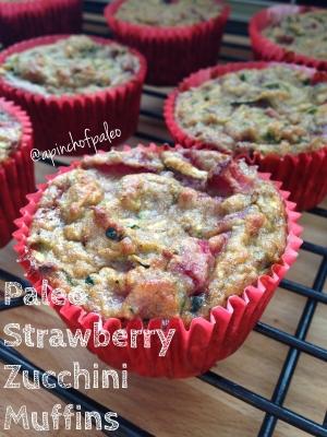 Paleo Strawberry Zucchini Muffins