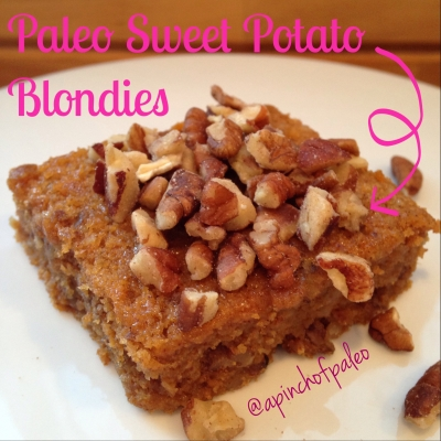 Paleo Sweet Potato Blondies