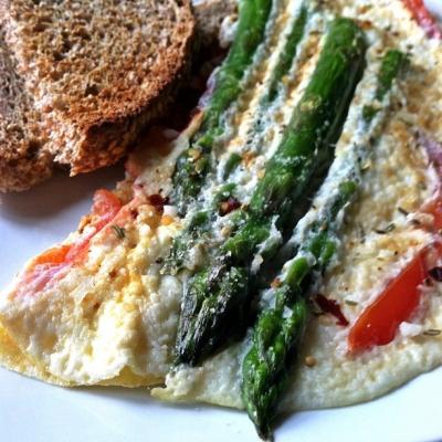 Parmesan & Herb Asparagus Egg White Omelet