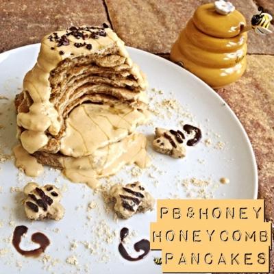 Pb & Honey Honeycomb Pancakes