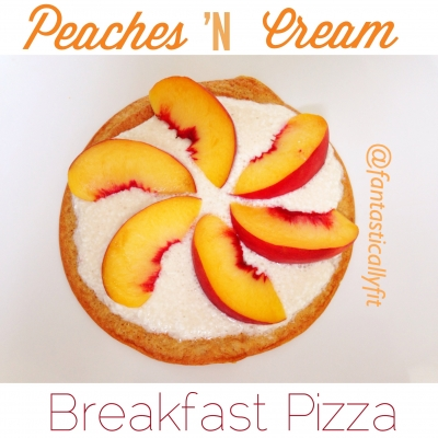 Peaches 'N Cream Breakfast Pizza