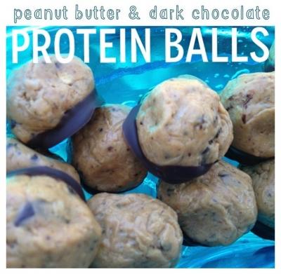 Peanut Butter & Dark Chocolate Protein Bites