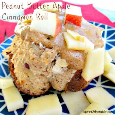 Peanut Butter Apple Cinnamon Roll
