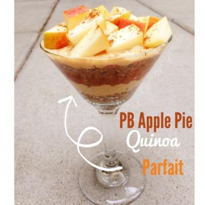 Peanut Butter Apple Pie Quinoa Parfait