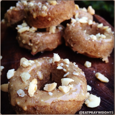 Peanut Butter Banana Mini Donuts