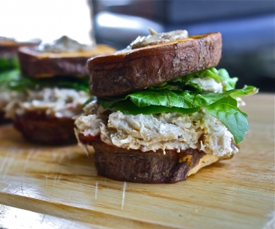 Peanut Butter Chicken Salad Sliders